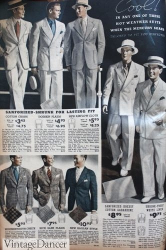 The men's 1930s Palm Beach look, white on white