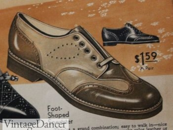 1930s menswear inspired oxfords for women