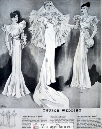 1933 exaggerated full pleated sleeves