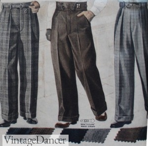 1930s Men's Wide Pants. More at VintageDancer.com