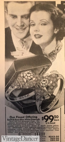 1937 Diamond ring in a Victorian inspired setting