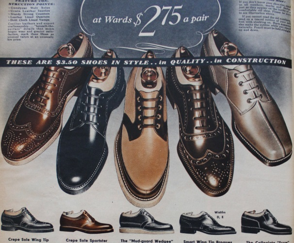 1938 men's 1930s dark dress shoes
