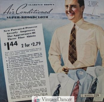 1938 men's dress shirts and ties