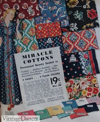 1938 floral prints and more