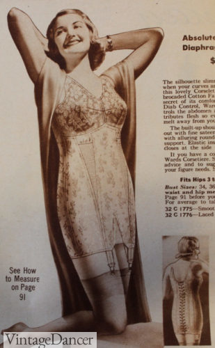 1938 back lacing corselet
