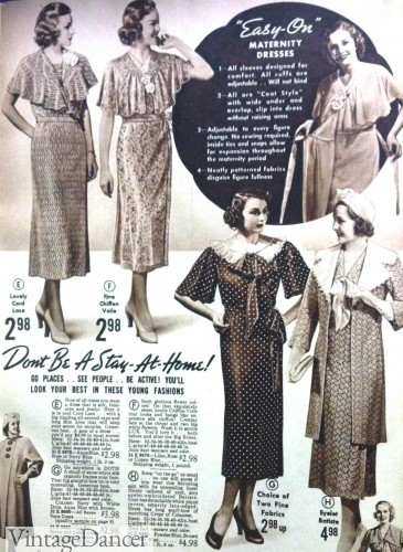 08fbb3f532d Vintage Maternity Clothes History 1920s-1960s