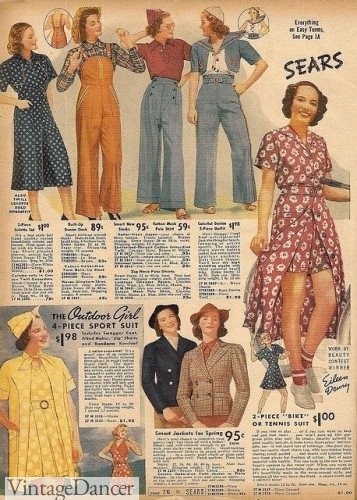 1930s hiking and sport clothes