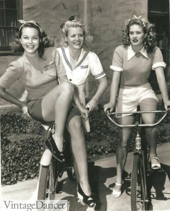 Late 1940s shorts and short sleeved sweaters