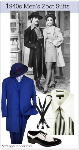 1940s Zoot Suits fashion clothing costume idea at VintageDancer com
