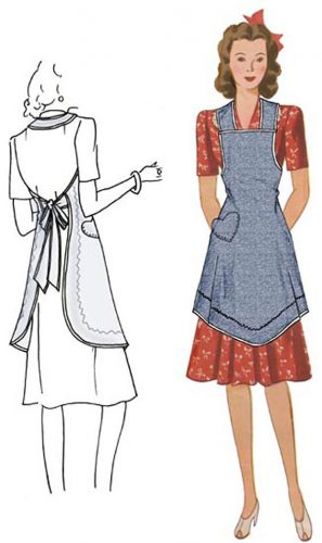1940s Apron Pattern by Decades of Style