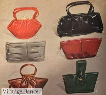 1940s handbags. 1947 purses in new colors