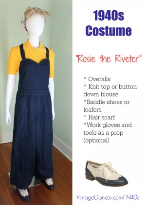 1940s Rosie the Riveter Costume | 1940s Women's Fashion