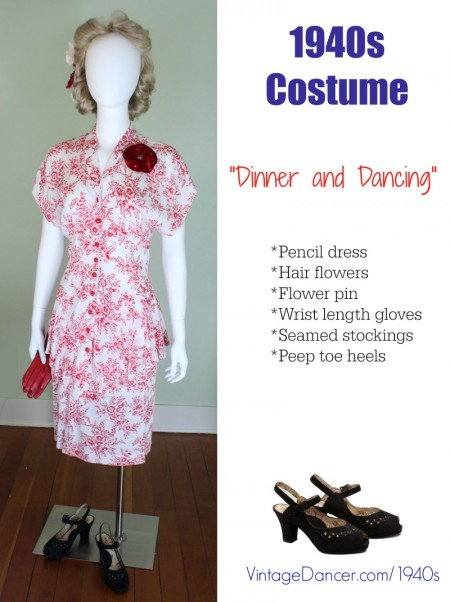 1940s costume dinner and dancing dress at vintagedancer