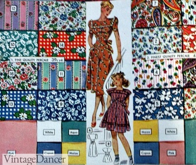 1940s cotton dress fabrics