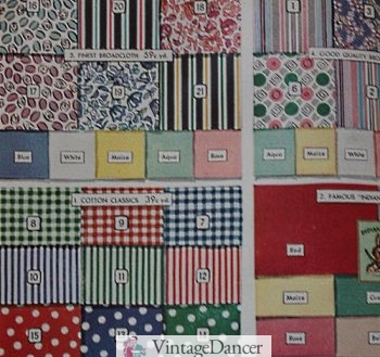1940 cotton house dress fabrics