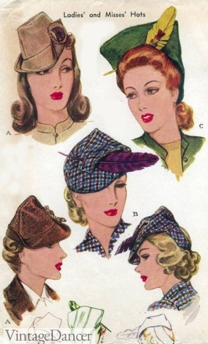1940s Hats History - 20 Popular Women s Hat Styles 58b2c1f8bf1