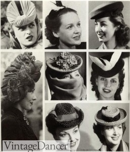 1940s hats collage