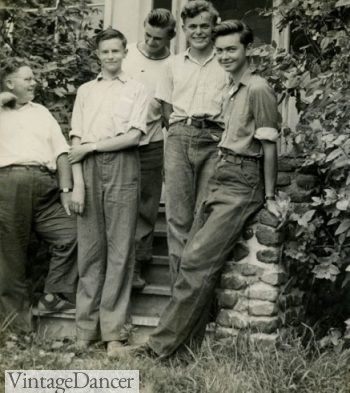 1940s teens in blue jeans