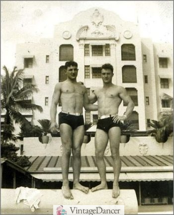 1940s men's swim trunks