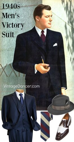 d840e8b3e179 Early 1940s simple men s Victory suit look