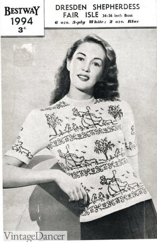 1940s Novelty Knit Top