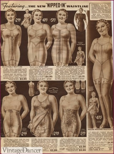 1940s plus size corset girdle