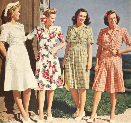 1940s summer day dresses
