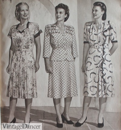 1940s rayon crepe plus mature dresses line dress