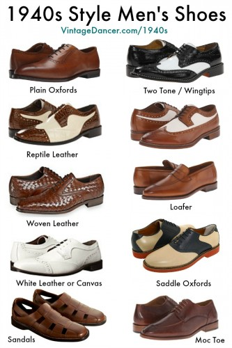 New 1940s style men's shoes. Shop now. at VintageDancer.com/1940s