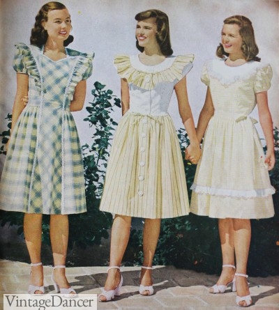 Vintage Teenage Fashion 1910s 1950s