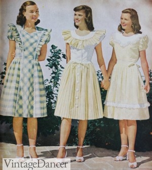 1940s teen yellow dresses