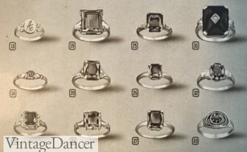 1940s Women's birthstone or monogram rings