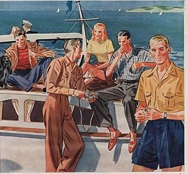 1942 casual summer clothes for boating