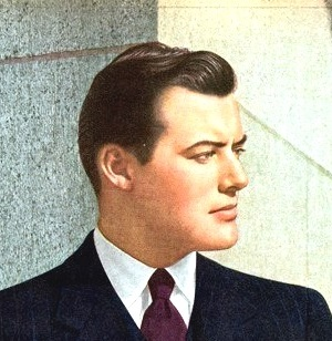 1940s mens hairstyle - 1943 slick with small wave