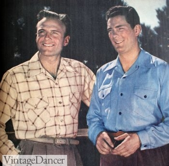 1943 men's casual shirts with sport collars