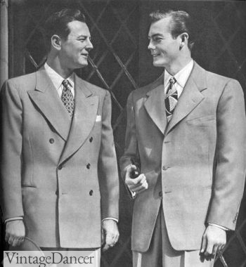 1943 men's single and double breasted suit