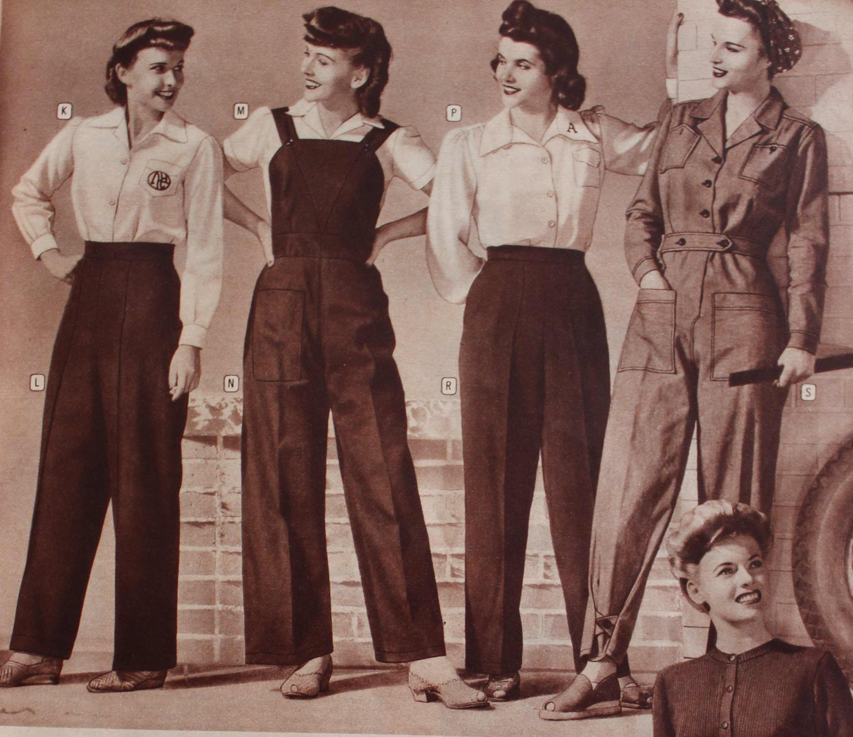 1940s fashion men and women