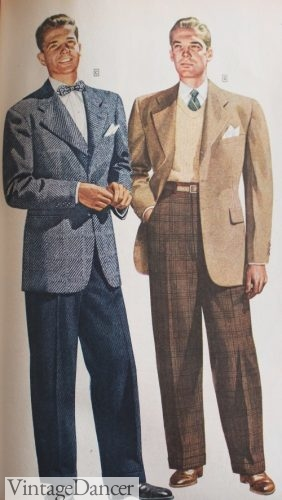 1944 Young Men's Sport Coats, Casual Collegiate Style