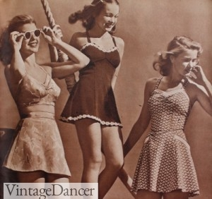 1940s swimsuits bathing suits for teenagers