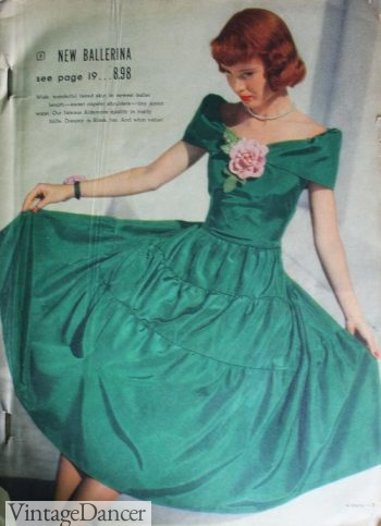 1948 Ballerina party dress, prom dress, ball gown