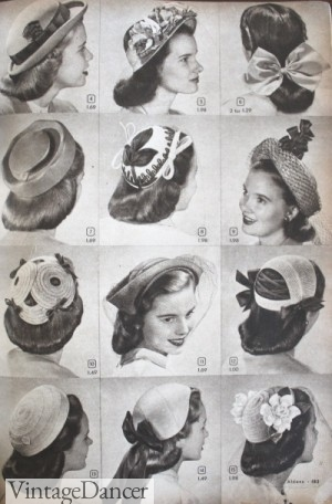 1940s teeager fashion hats