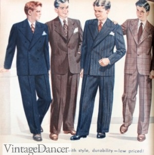 a823de87f6d2 1940s Teenage Fashion for Boys and Young Men