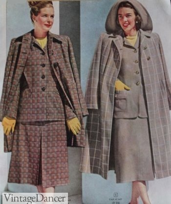 Ladies 1948 wool suits and coats