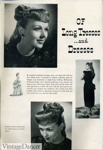1948 long hair with ringlet curls