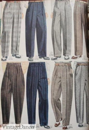 1940s mens casual pants, 1948