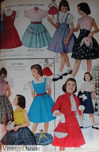 1958 kids girls clothing outfits