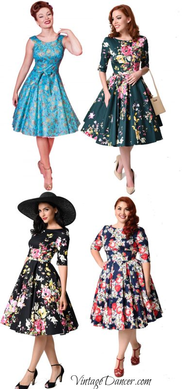 1950s fifties dresses for pinup and rockabilly fashion
