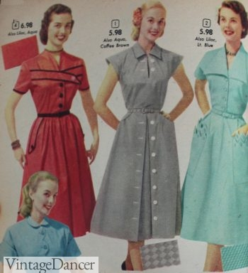 1952 House dresses with some fancy details
