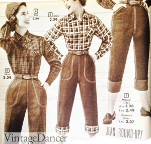 1950s jeans crop pants, capri