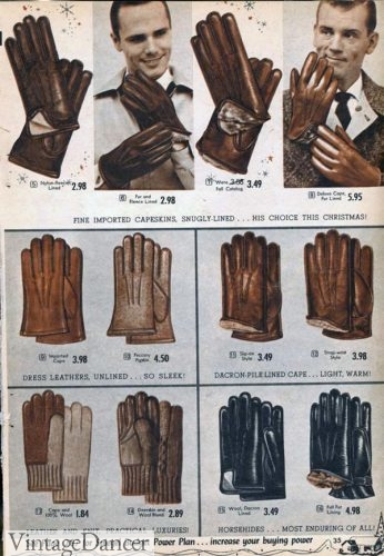 1950s Men's Gloves